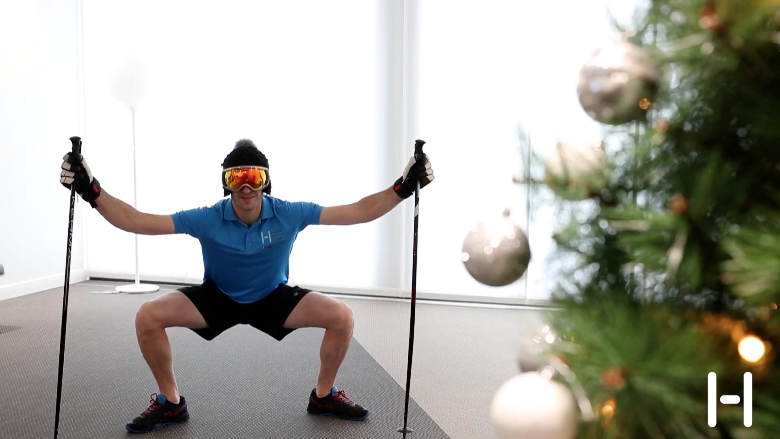 8 minutes pour bien vous échauffer avant le ski