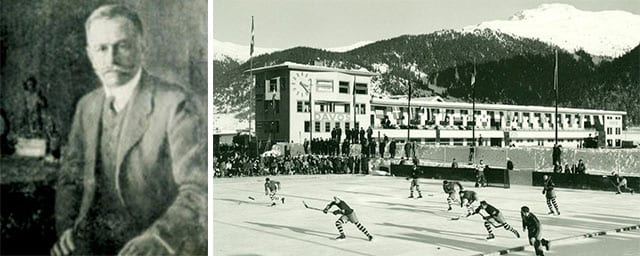 Ein Arzt und Eishockeyfan